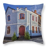Simrishamn Townhouse Throw Pillow