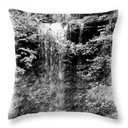 Simulated Pencil Drawing Tinker Falls. Throw Pillow