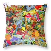Simultaneous Dimensions #3 Throw Pillow