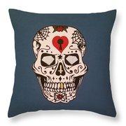 Sin Sugar Skull Throw Pillow