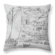 Sinagot At The Pink House Vannes France Throw Pillow