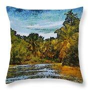 Sinamaica Lake - Venezuela Throw Pillow