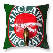 Sinclair Aircraft Pump Throw Pillow