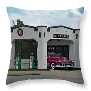 Sinclair Gasoline Throw Pillow
