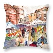 Sineu Market In Majorca 01 Throw Pillow