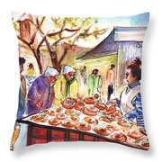 Sineu Market In Majorca 04 Throw Pillow