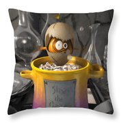 Siney The Crazy Mutant Egg Throw Pillow
