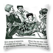 Sing A Song Of Sixpence Nursery Rhyme Throw Pillow