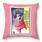 Sing And Dance Santa Throw Pillow
