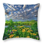 Sing For The Day Throw Pillow