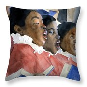 Sing Out Your Joy Throw Pillow