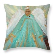 Sing Your Heart Out Angel Throw Pillow