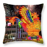 Singapore Chinatown 2017 Lunar New Year Fireworks Throw Pillow