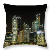 Singapore Evening Cascade Throw Pillow