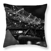 Singapore Helix Bridge Throw Pillow