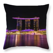 Singapore In Purple 1 Throw Pillow