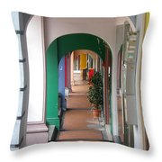 Singapore Porticoes Throw Pillow