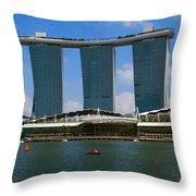 Singapore Ship Top Throw Pillow