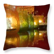 Singapore Temple Offering Lamps Throw Pillow