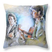 Singer And Guitarist Flamenco Throw Pillow