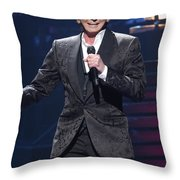 Singer Barry Manilow Throw Pillow