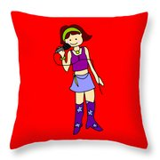 Singer Girl Throw Pillow