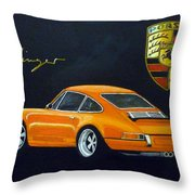 Singer Porsche Throw Pillow