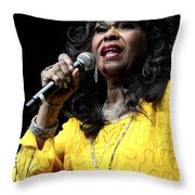 Singer Shirley Alston Reeves  Throw Pillow