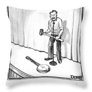 Singer Smashes Banjo Throw Pillow