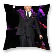 Singer Tony Bennett Throw Pillow