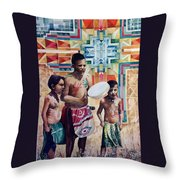 Singing Collins Brothers, Pretty Eagle Academy Throw Pillow
