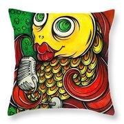 Singing Fish Throw Pillow