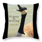 Singing Goose Throw Pillow