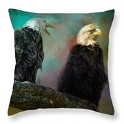 Singing Her A Spring Song Throw Pillow