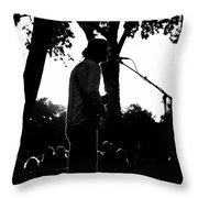 Singing In The Contrast Sunset Light Throw Pillow