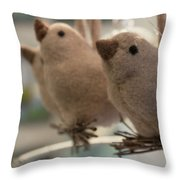 Singing In The Shop Throw Pillow