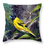 Singing Into A New Year Throw Pillow