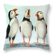 Singing Throw Pillow by Phyllis Howard