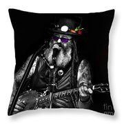 Singing Strings Throw Pillow