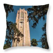 Singing Tower Throw Pillow