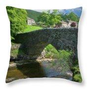 Single Arch Stone Bridge - P4a16018 Throw Pillow