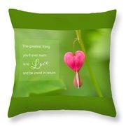 Single Bleeding Heart Flower In My Spring Garden Throw Pillow