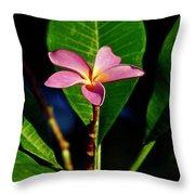 Single Blossom Throw Pillow