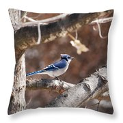 Single Blue And Available Throw Pillow