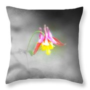 Single Columbine Throw Pillow