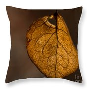 Single Fall Leaf Throw Pillow