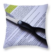 Single Finger Scissor Throw Pillow