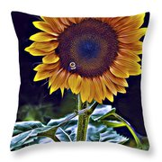 Single Flower Throw Pillow