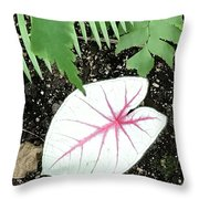 Single Leave Throw Pillow