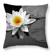 Single Lily Throw Pillow